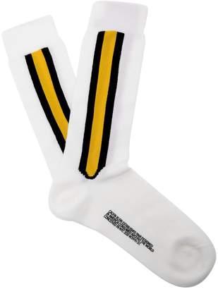 Calvin Klein Striped wool-blend socks