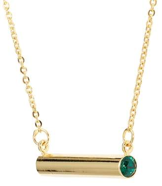 STELLA VALLE May Crystal Bar Pendant Necklace