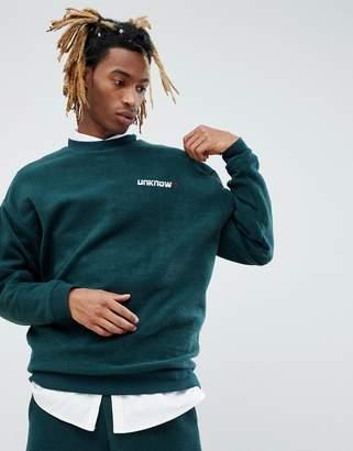 Asos DESIGN x Unknown London Sweatshirt With Back Stripe