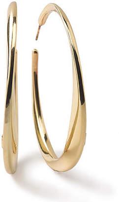 Ippolita 18K Glamazon Heavy Bottom Large Hoop Earrings