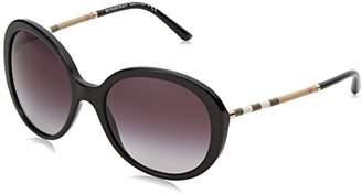 Burberry Women's Sunglasses 4239Q 30018G, Black (Black/Gray), 57-19