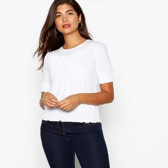 Red Herring White Shirred Hem T-Shirt