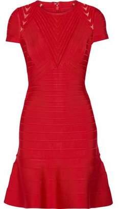 Herve Leger Hillary Tulle-Paneled Bandage Dress