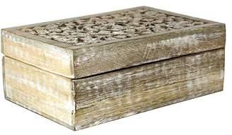 Mela Artisans Jasmine Box Large in Whitewash
