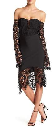 Wow Couture Lace Off-the-Shoulder Dress