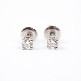 Tiffany & Co. Silver Platinum Earrings