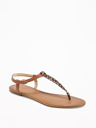 Sueded T-Strap Sandals for Women $22.94 thestylecure.com
