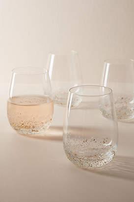 Anthropologie Volcania Stemless Wine Glasses, Set of 4