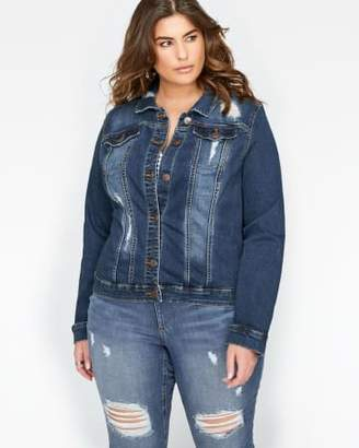 Addition Elle L&L Distressed Denim Jacket