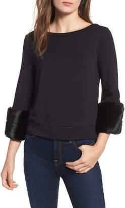 Bailey 44 Freestyle Faux Fur Cuff Sweatshirt