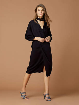Diane von Furstenberg Long Sleeve Front Twist Dress