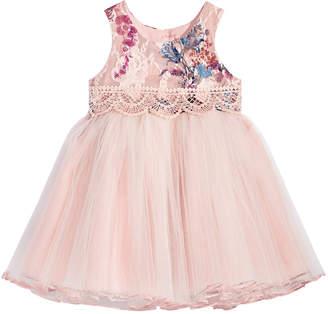 Bonnie Baby Baby Girls Rose Brocade Ballerina Dress