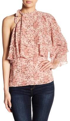 WAYF Colton Ruffle Tiered Floral Blouse