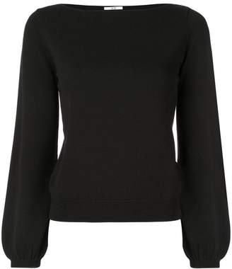 Co knitted boat neck top