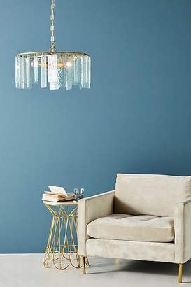 Anthropologie Hammered Glass Chandelier