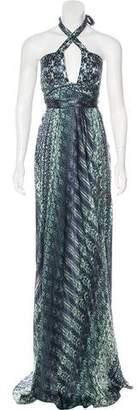 Alexis Printed Silk Dress