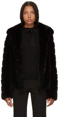 Yves Salomon Black Fur Jacket