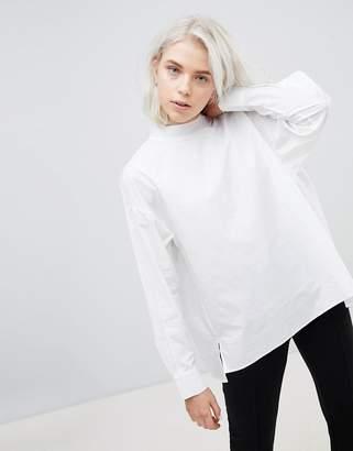 Weekday High Neck Pleat Back Shirt