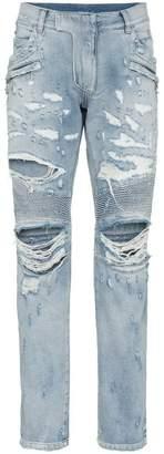 Balmain slim ripped biker jeans