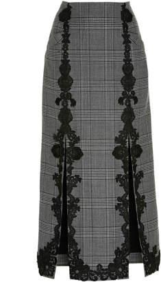 Jonathan Simkhai Wool Applique Double Slit Skirt