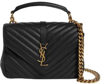 Saint Laurent Medium College Monogram Leather Bag