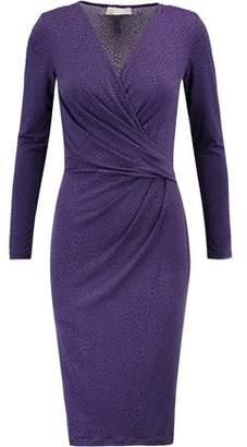 MICHAEL Michael Kors Wrap-Effect Printed Stretch-Jersey Dress