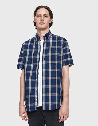 Gitman Brothers Graph Plaid Cotton/Linen Plaid Shirt