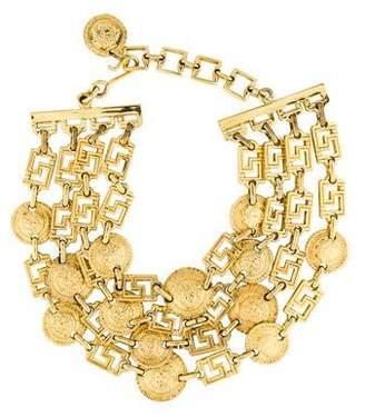 Versace Multistrand Medusa Necklace