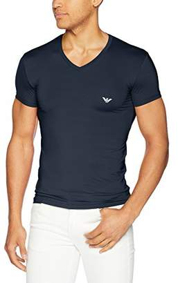 Emporio Armani Men's Microfiber V-Neck T-Shirt