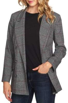 CeCe Scarlet Dream Oversized Plaid Blazer