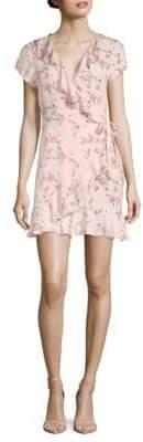 Paisley Ruffle Wrap Dress