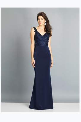 Dave and Johnny Sweet Navy Gown