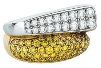 Fred of Paris 18K Diamond Cocktail Ring