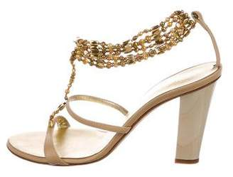 Giuseppe Zanotti Leather T-Strap Sandals