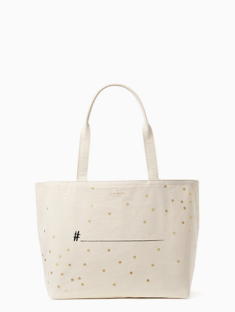 Kate Spade Wedding belles hashtag tote
