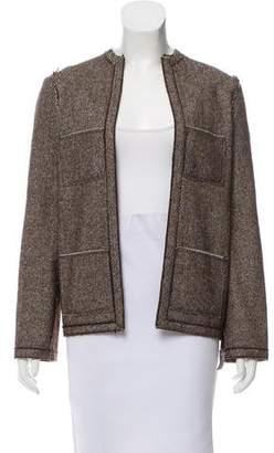 Lanvin Herringbone Open Front Jacket
