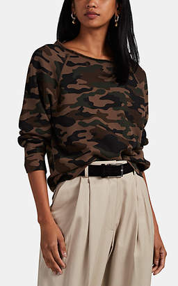 Nili Lotan Women's Luka Distressed Camouflage Cotton Sweatshirt - Brown