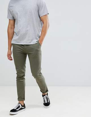Asos DESIGN skinny chinos in khaki