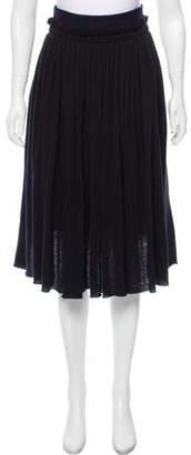 Hache Layered Wool Skirt