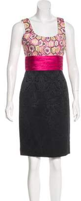Phoebe Couture Sleeveless Patterned Dress