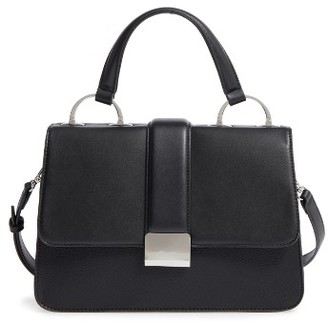 Chelsea28 Blake Faux Leather Top Handle Satchel - Black $79 thestylecure.com