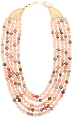 Lydell NYC Short Multi-Row Semiprecious Beaded Necklace