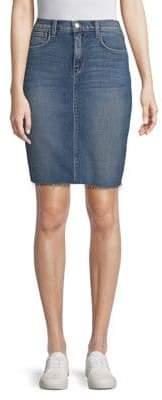 L'Agence Montecito Denim Pencil Skirt