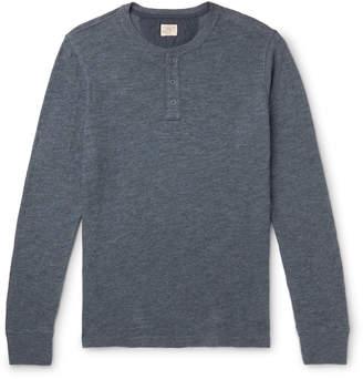 Faherty Slim-Fit Slub Cotton-Jersey Henley T-Shirt - Men - Blue