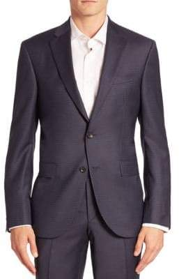 Saks Fifth Avenue Modern Geometric Wool Suit Jacket