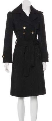 Dolce & Gabbana Wool Jacquard Coat w/ Tags