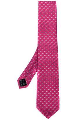 Salvatore Ferragamo woven embroidered tie