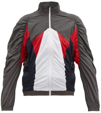 Martine Rose Ruched Shell Track Jacket - Mens - Grey