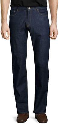 Peter Millar Straight-Leg Stretch-Denim Jeans, Indigo