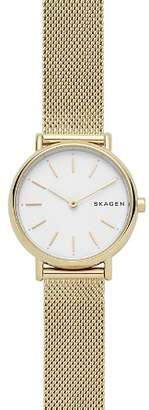 Skagen Signatur Gold-Tone Slim Watch, 30mm